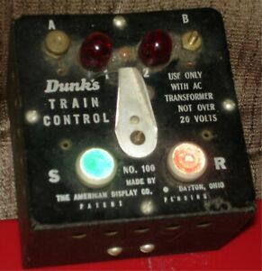 DUNK'S -   #100 VINTAGE TRAIN CONTROLLER