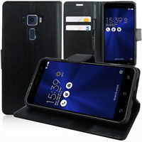 Etui Coque Housse Portefeuille Support Video NOIR Asus Zenfone 3 ZE520KL 5.2""