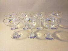 7 X VINTAGE BABYCHAM GLASSES