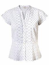 East Polka Dot Dobby Shirt White Size UK 14 rrp £59 DH170 KK 05