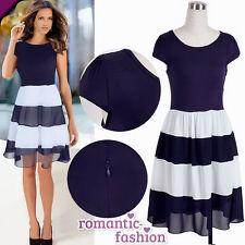 ♥Größe 34,36,38,40 od. 42 Sommerkleid Abendkleid Cocktailkleid in Blau+NEU+B503♥