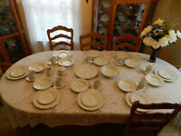 Mikasa Ivory Vassar Rose #L2820 China Set for (8) with (4) Serving Pieces Japan