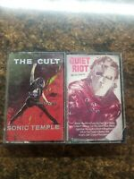 The Cult Sonic Temple Quiet Riot Mental Health Cassette Tape Lot 1989 1983