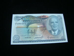 Malawi 1982 50 Tambala Banknote Gem Uncirculated Pick#13d