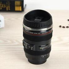 Brand New Black Camera Lens Coffee Water Mug Cup Boxed Camera Len Look Mug USA