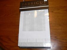 """Fabricut Textured Sheers Vol. II """"Parchment"""" Sample Swatch Fabric Book #B0114"""