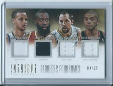 2012-13 Panini Intrigue Nicolas Batum Stephen Curry James Harden Ryan Anderson