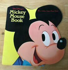 Walt Disney's Mickey Mouse Golden Shape Book 1965 J edition