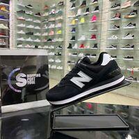 New Balance 574 Scarpe Sneakers Sportive Ginnastica Tennis Casual Nere tela