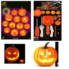 2017 Halloween Pumpkin Carving Kit Sculpting 5 Tools interesting 16 Designs NEW