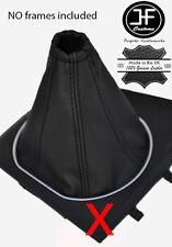 NOIR COUTURE SOUFFLET LEVIER DE VITESSE CUIR POUR FORD MONDEO MK3 III 01-03