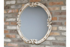 More details for  shabby chic french style rustic  wall mirror in wood