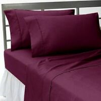 4PC Sheet Set 1000 Thread Count Soft Egyptian Cotton Select Solid Color & Sizes