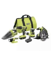 Ryobi 18V ONE+ Li-Ion Cordless 5-Tool Combo Kit with 2 Batteries + BAG*NEW*