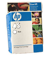 New- HP 45 Inkjet Black Ink Cartridge 51645A - Free Shipping!