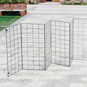 8 Panel Dog Pet Fence Foldable Playpen Barrier Metal Wire Fencing Expanding Gate