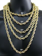 Chunky Rope Chain 14k Gold Plated 16