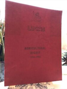 Lucas Tractor Digest 1952-53 David Brown Massey Ferguson Lights Starters Etc