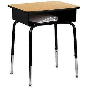 Flash Furniture Student Desk with Open Front Metal Book Box New