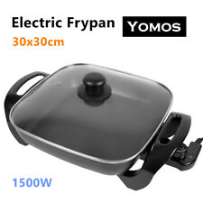 30CM Electric Banquet Frypan Non-Stick Wok Adjustable Temperature Control Pan Au