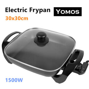 30X30CM Electric Frypan Non-Stick Wok Adjustable Temperature Control