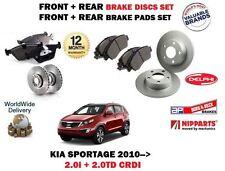 para Kia Sportage 2.0 + CRDi 2010- > delante + Disco freno Trasero Set +