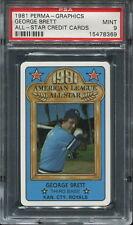 1981 Perma-Graphics All-Star Credit Cards George Brett PSA 9