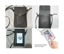 Universal Cell phone Purse / Bag Leather Cross body touchscreen 2 Pkt
