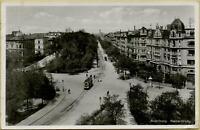 1550: Postkarte Ansichtskarte Augsburg Kaiserstraße gelaufen 1939 Straßenbahn
