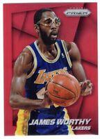 2014-15 Panini Prizm Basketball James Worthy SP Red Prizm /49 #172 Lakers
