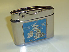 """ROWENTA SNIP LIGHTER - LACQUER """"BRITISH ISLES"""" AIRPLANE - 1954-1964 - GERMANY"""