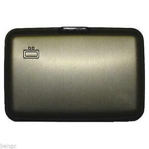 Ogon Designs Small Aluminum Wallet Credit Card RFID Blocking Security Case NEW
