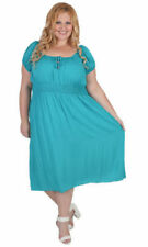 Plus Size Rayon Solid Dresses for Women