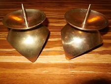 VintagePair Brass Candle Stick Holder Lamp Lantern Korea Brass Round