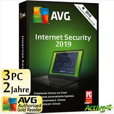 AVG Internet Security 3 PC 2 Jahre 2019 Vollversion DE Antivirus 2020 NEU