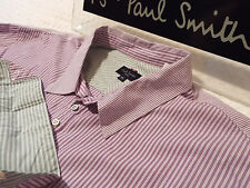 """PAUL SMITH Mens Shirt 🌍 Size XL (CHEST 46"""") 🌎 RRP £95+ 🌏 STRIPED & CONTRASTS"""