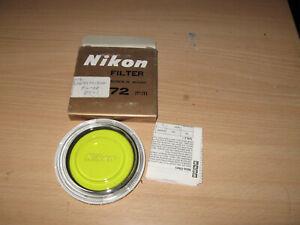 NIKON 72MM Y48 YELLOW FILTER NOS