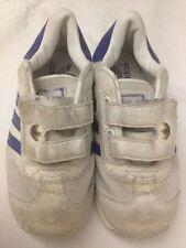 Adidas - scarpe da ginnastica - colore bianco - N° 26 - chiusura velcro - USATE
