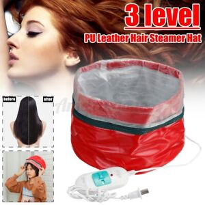 3 Modes Hair Steamer Electric Dryers Heating Cap Hat Thermal Treatment Care Spa
