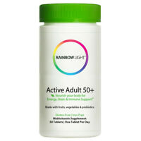 Rainbow Light Active Adult 50+ Multivitamin with CoQ10 50-tablets