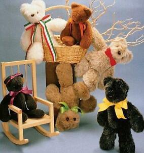 "McCalls Sewing Pattern 6188 Carols Zoo 16"" Teddy Bear One SIze Craft"