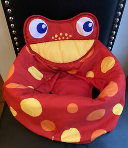 Fisher Price Rainforest Jumperoo Red Frog Fabric Seat Cover Replacement Part EUC