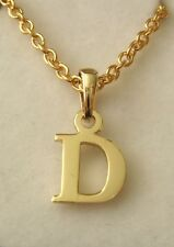 GENUINE  SOLID  9K 9ct  YELLOW  GOLD  INITIAL  D  LETTER  PENDANT