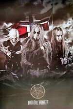 "DIMMU BORGIR ""GROUP STANDING BY NORWAY FLAG"" POSTER FROM ASIA -Black Metal Music"