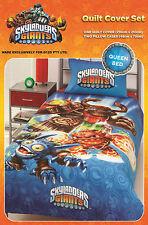 Skylanders Giants Queen Bed Blue Printed Doona Quilt Cover Set Licensed New