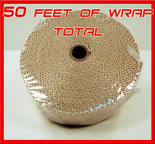 Exhaust Pipe Heat Header Wrap Insulation Thermal Tape Roll 2 INCH X 50 FEET TAN