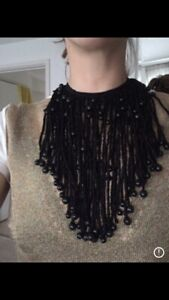 Emporio Armani Cloth Silk Black Necklace
