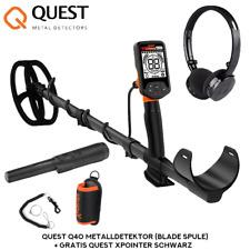 Quest Q40 Metalldetektor (Blade Spule) + Gratis Quest XPointer Schwarz