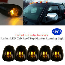 5PCS Cab Light Smoked Amber Running Marker Parking Roof Top LED Truck Pickup Kit