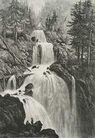 WHYMPER (19. Jh.), Triberger Wasserfälle, Holzst.